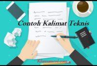 Contoh Kalimat Teknis